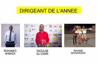 Nominés dirigeant 2018 : Mohamed Ahmada & Daoulab Ali Chari & Rakime Boinariziki