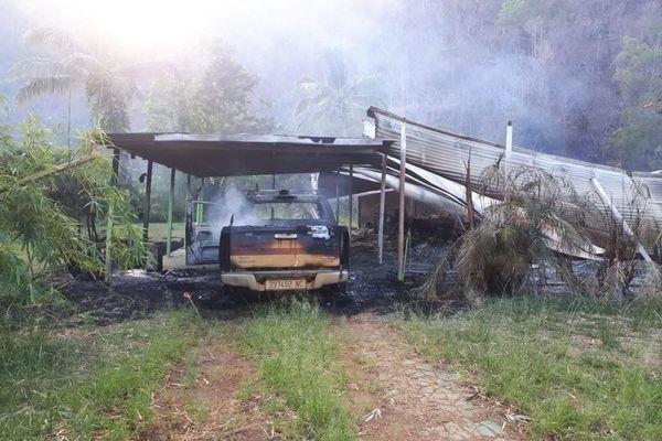 Incendie SLN Kouaoua