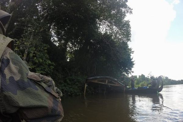 Opération de lutte contre l'orpaillage menée par les forces armées de Guyane
