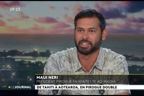 Invité du  JT : Maui Neri, Président de la pirogue fa'afaite i te ao maohi