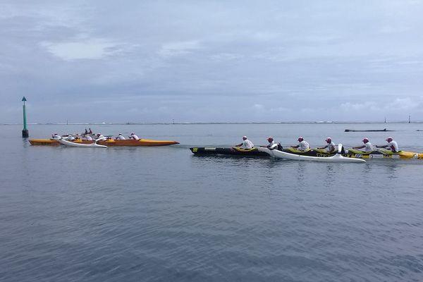 Shell va'a et Team OPT open hommes