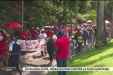 Manifestation contre le pass sanitaire et l'obligation vaccinale à Pointe-à-Pitre en Guadeloupe