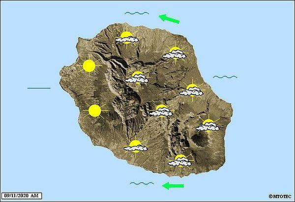 Carte météo 9 novembre 2020
