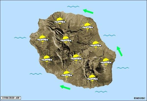Carte météo 15 juin 2020