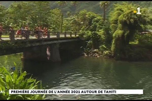 Première journée de l'année 2021 autour de Tahiti