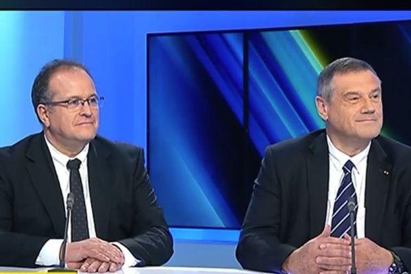 Le docteur Olivier Mimoz et le professeur Pierre Carli