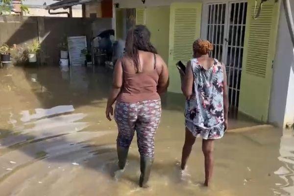 Inondation à Saint-laurent du Maroni