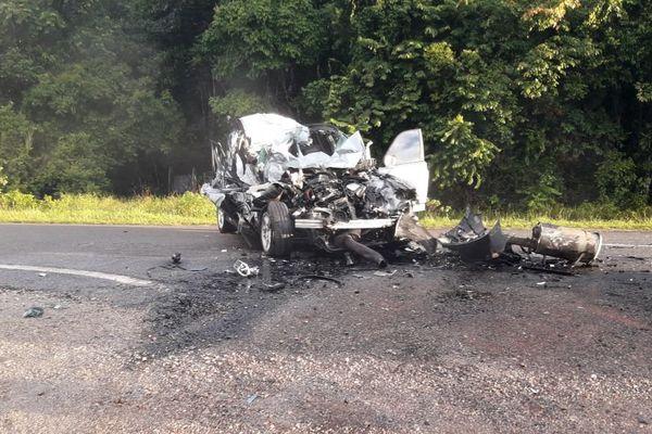 Accident sur la route d'Iracoubo
