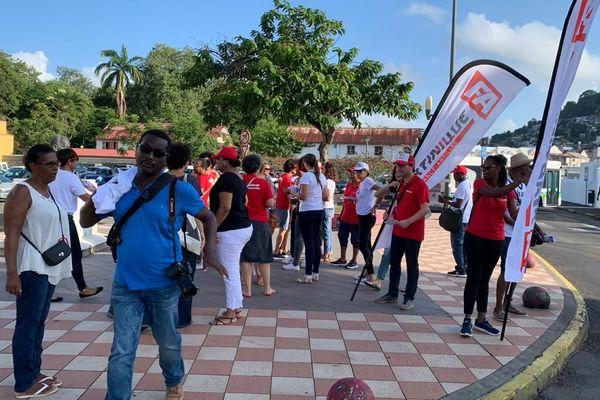 Manifestation salariés de France-Antilles