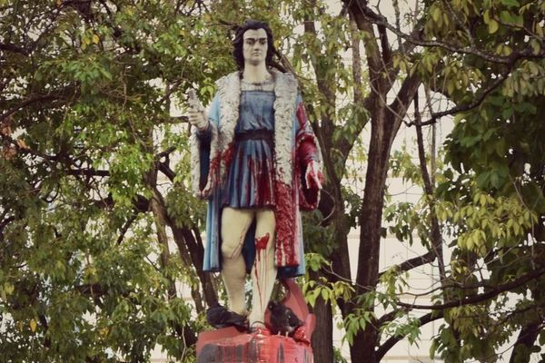 Trinidad and Tobago statue Christophe Colomb