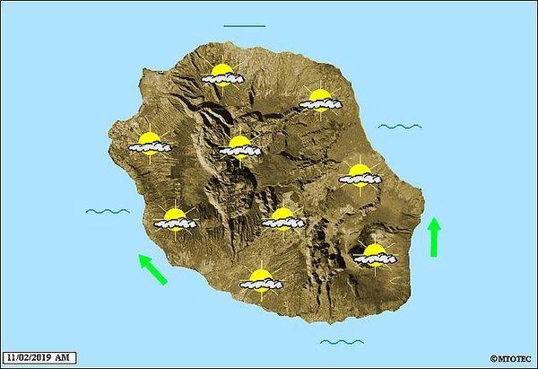 Carte météo 11 février 2019