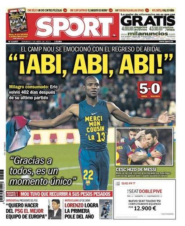 Une sport Abidal