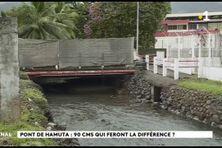 Le pont de Hamuta en chantier pour deux ans