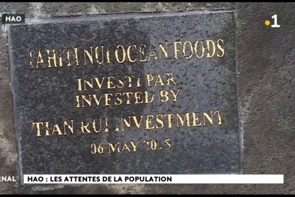 Projet aquacole de Hao : les investisseurs Chinois de retour