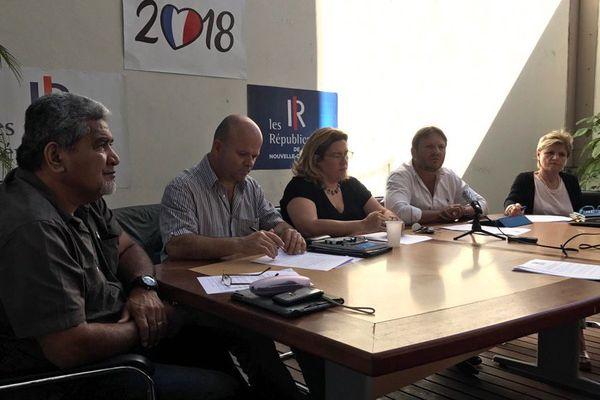 Conférence de presse création groupe politique Les Républicains calédoniens au Congrès (18 juillet 2017)