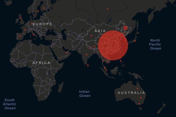 Carte des régions d'Australie touchées par le coronavirus