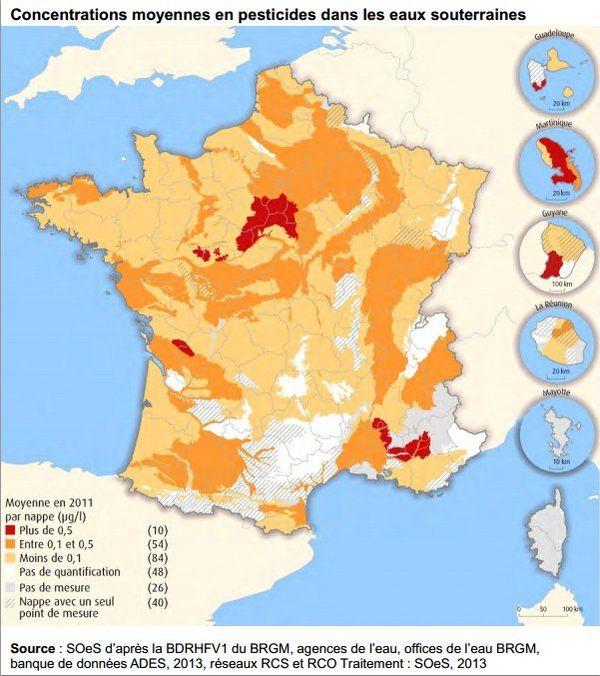 carte pesticides souterrains