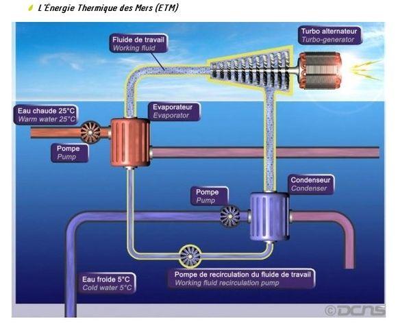 Energie thermique des mers
