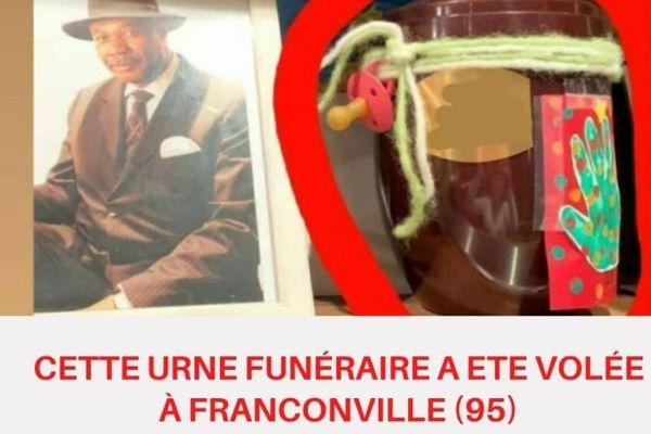 urne funéraire volée