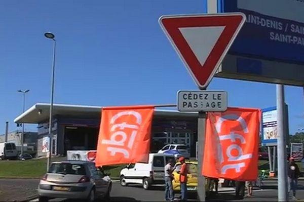 la grève à Carrefour