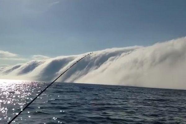 brume lac Michigan