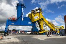 La grue épave sur le Grand Port Maritime
