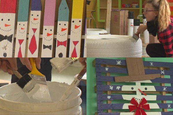 Fabrication des décorations de Noël à Miquelon