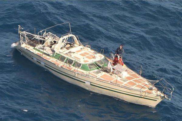 Sauvetage du navigateur Thierry Deroy, février 2020