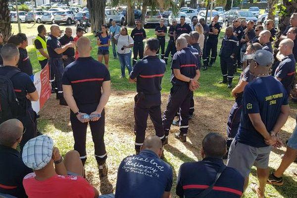 Manifestation des Sapeurs-pompiers