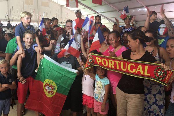 La joie des supporters portugais à Papeete