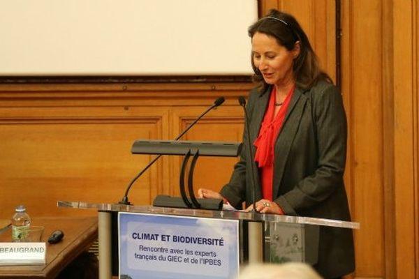Ségolène Royal à L'Institut océanographique de Paris