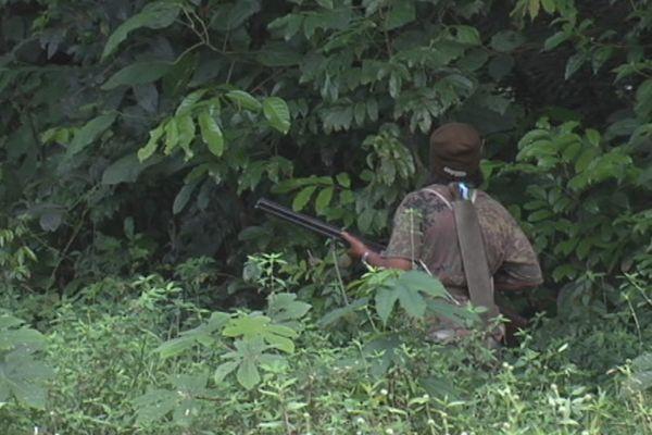 Un chasseur en guyane