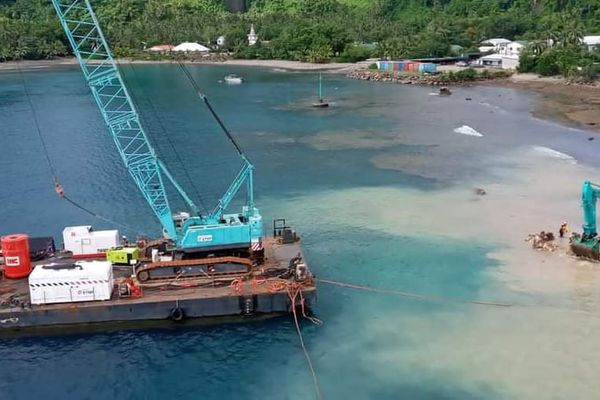 le chantier du quai de Leava à Futuna