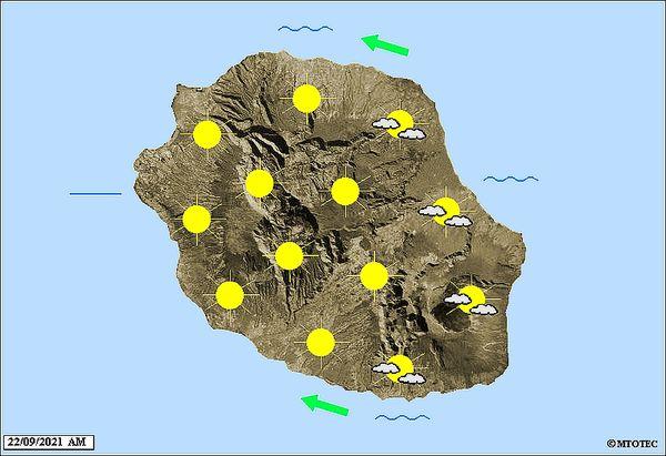 Carte météo 22 septembre 2021