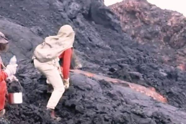 prelevements lave volcan