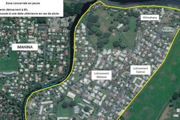 L'épandage d'insecticide concerne les quartiers Matavai, Hitimahana et Fareroi les 24 et 28 mai