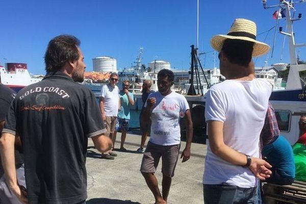 Manifestation des pêcheurs du Port