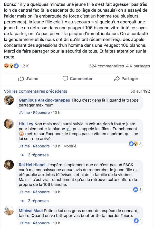 """Une publication sur le groupe Facebook """"Allo qui sait quoi ?"""" est à l'origine de la réaction des internautes"""