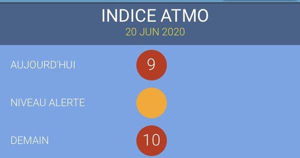 indice atmosphère 10