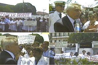 Archives de Guyane : quand l'hôpital était au cœur d'une visite ministérielle en 1986