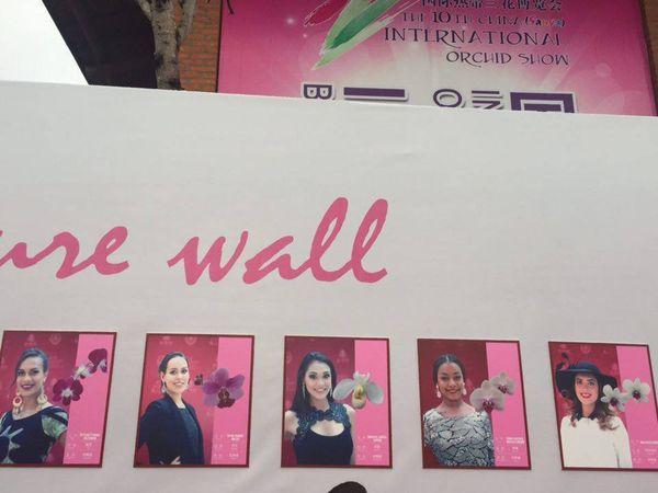 """Les signatures des 114 candidates sur le """"signature wall"""""""