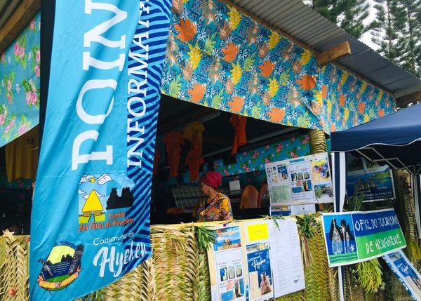 Fête de Hienghène, stand de l'Office de tourisme, août 2020