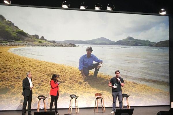 Sargasse projet lors du prix innovation Outre-mer en novembre 2019
