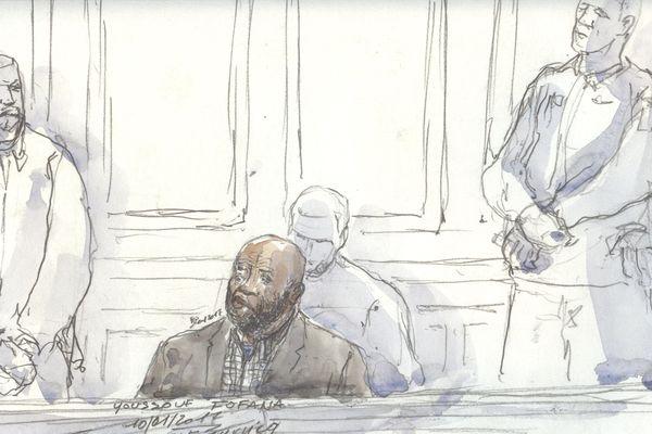 Dessin du procès de Youssouf Fofana
