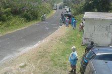 La population évacuée du côté de Medu à Maré.