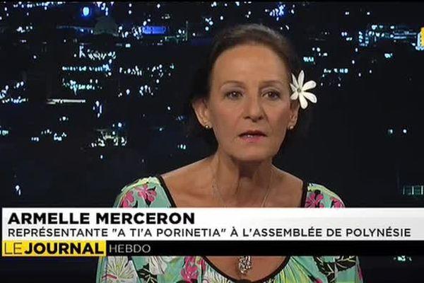 """L'invitée du journal : Armelle Merceron, représentante """"A Ti'a Porinetia"""" à l'assemblée de Polynénsie"""