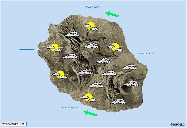 Carte météo du 28 juillet 2017