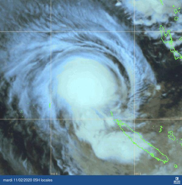 Uesi carte satellite du 11 février à 5 heures.