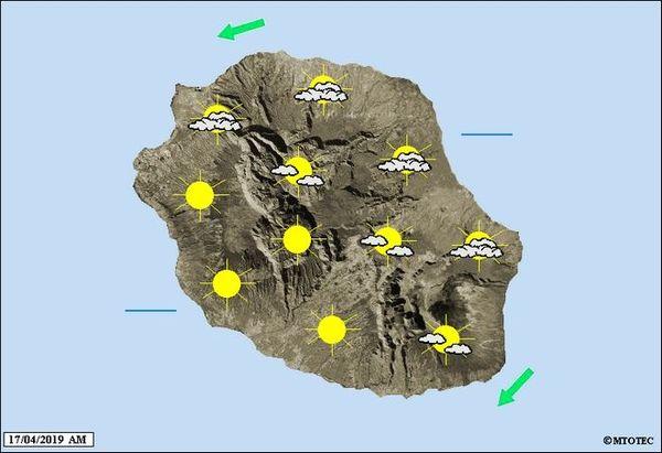 carte météo 17 avril 2019