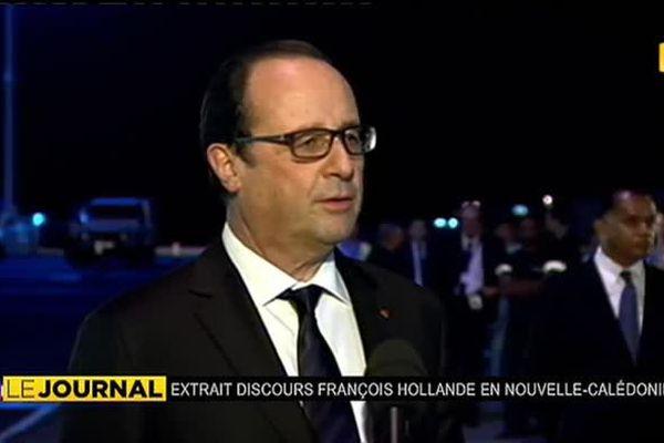 """François Hollande en Nouvelle-Calédonie : """" Je suis ici pour vous entendre, pour vous répondre """""""